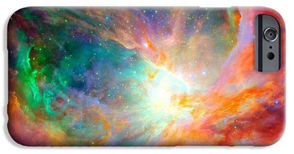 Constellations iPhone Cases - Orion Nebula Close Up iPhone Case by L Brown
