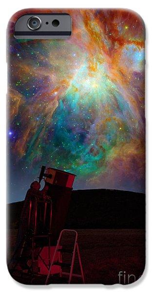 Stargazing iPhone Cases - Orion Nebula iPhone Case by Larry Landolfi