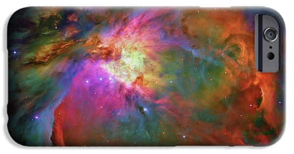 Constellations iPhone Cases - Orion Nebula Messier 42  M42  NGC 1976  iPhone Case by Ram Vasudev