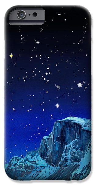 Stargazing Paintings iPhone Cases - Orion Over Halfdome iPhone Case by Douglas Castleman