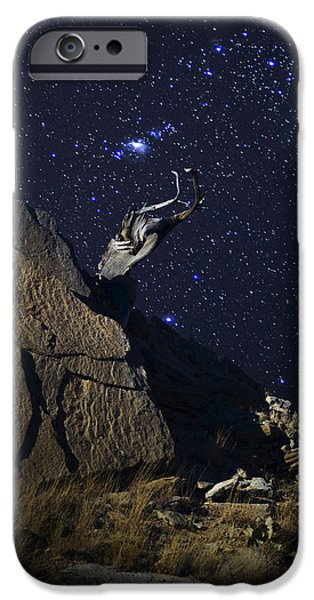 Constellations iPhone Cases - Orion Rising Over Palo Duro Canyon iPhone Case by Karen Slagle