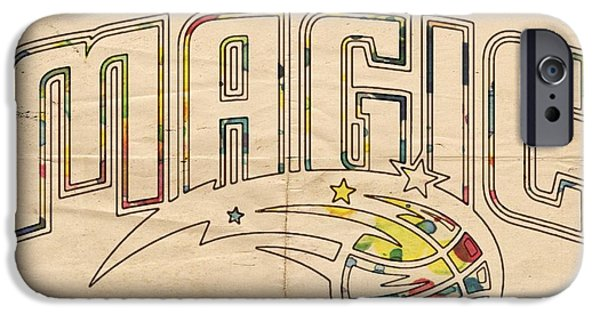 Orlando Magic iPhone Cases - Orlando Magic Retro Poster iPhone Case by Florian Rodarte
