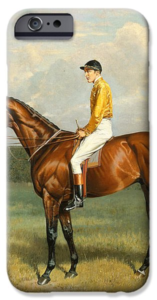 Ormonde Winner of the 1886 Derby iPhone Case by Emil Adam
