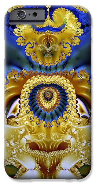 Gina Manley iPhone Cases - Ornamental Fountain - A Fractal Design iPhone Case by Gina Lee Manley