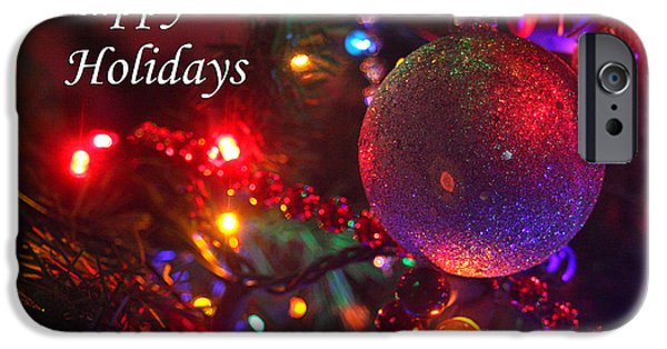 Business Photographs iPhone Cases - Ornaments-1961-HappyHolidays iPhone Case by Gary Gingrich Galleries