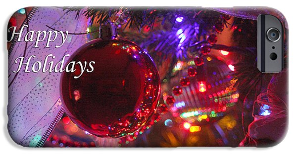 Business Photographs iPhone Cases - Ornaments-1996-HappyHolidays iPhone Case by Gary Gingrich Galleries