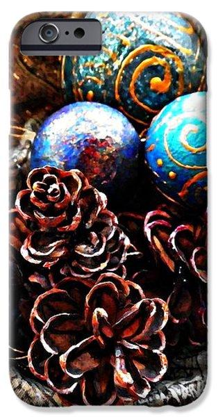 Ornaments 6 iPhone Case by Sarah Loft