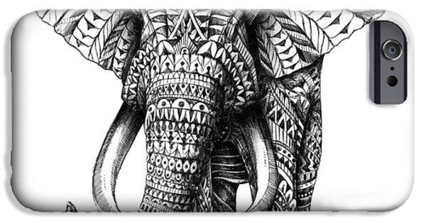 Patterned iPhone Cases - Ornate Elephant iPhone Case by BioWorkZ