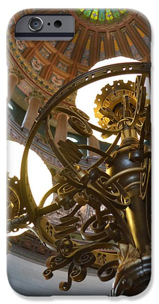 Lincoln iPhone Cases - Ornate Lighting - Sprngfield Illinois Capitol iPhone Case by Luther   Fine Art