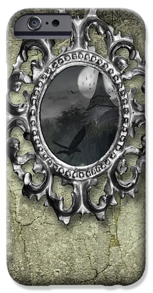 Ornate Metal Mirror Reflecting Church iPhone Case by Amanda And Christopher Elwell