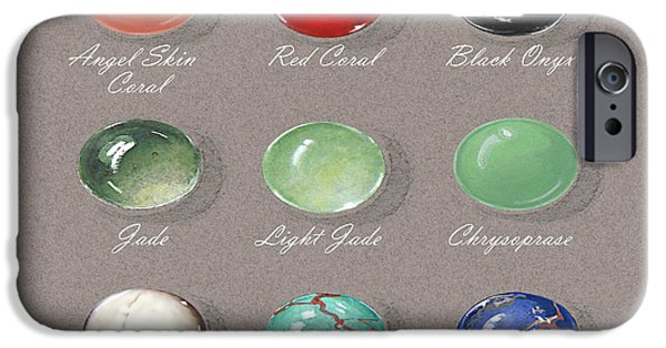 Food And Beverage Jewelry iPhone Cases - Ornemental Gemstone palette iPhone Case by Marie Esther NC