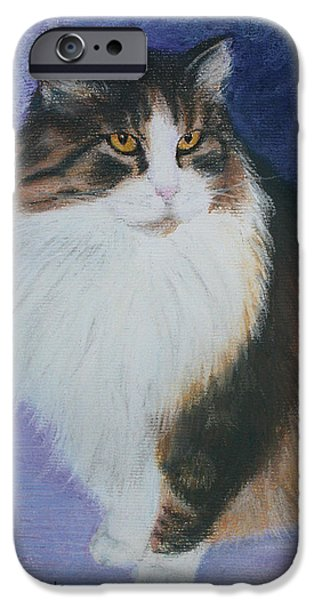 Animal Cards Pastels iPhone Cases - Orphan iPhone Case by Marna Edwards Flavell