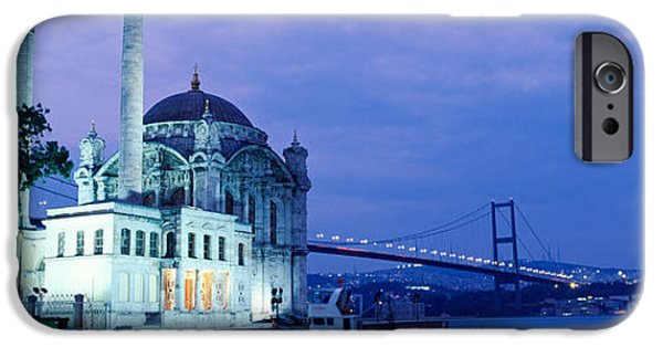 19th Century iPhone Cases - Ortakoy Mosque, Istanbul, Turkey iPhone Case by Panoramic Images