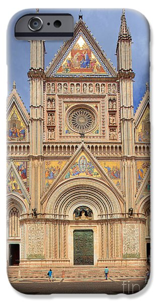 Christianity iPhone Cases - Orvieto Duomo iPhone Case by Inge Johnsson