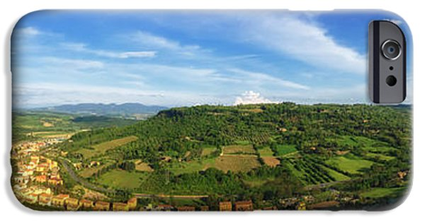 Field. Cloud iPhone Cases - Orvieto Italy Panorama iPhone Case by Mountain Dreams
