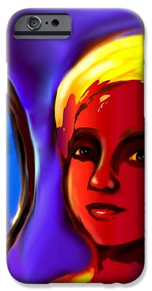 Oshun -Goddess of Love iPhone Case by Carmen Cordova