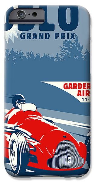 Oslo iPhone Cases - OSLO Grand Prix 1950 iPhone Case by Nomad Art And  Design