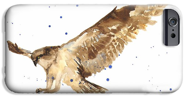 Bird Of Prey Art iPhone Cases - Osprey Painting iPhone Case by Alison Fennell