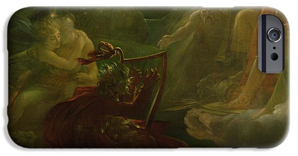 Epic iPhone Cases - Ossian Conjuring up the Spirits  iPhone Case by Francois Pascal Simon Gerard