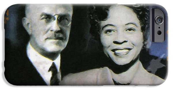 Abolition Paintings iPhone Cases - Oswald Garrison Villard and Daisy Gatson Bates iPhone Case by Lanjee Chee