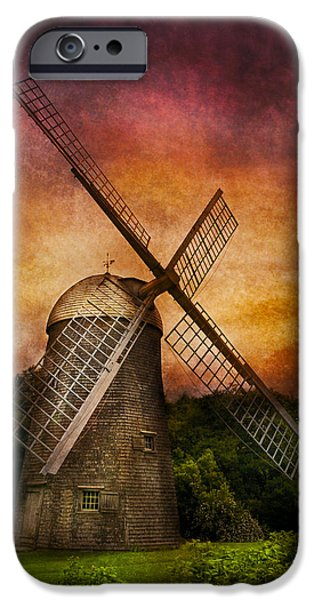 Old Mill Scenes iPhone Cases - Other - Windmill iPhone Case by Mike Savad