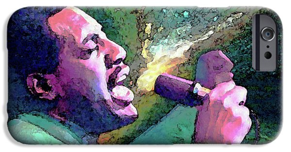 Art Of Soul Music iPhone Cases - Otis Redding iPhone Case by John Travisano