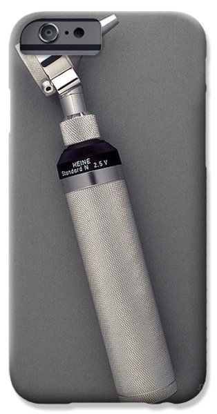 Medical Equipment iPhone Cases - Otoscope iPhone Case by Wolfgang Weinhaupl / Okapia