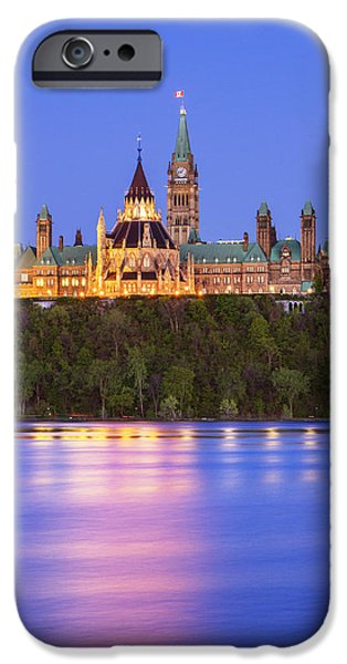 Ottawa iPhone Cases - Ottawa Blue Hour iPhone Case by Mircea Costina Photography