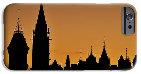 Conservative iPhone Cases - Ottawa Dusk iPhone Case by Tony Beck