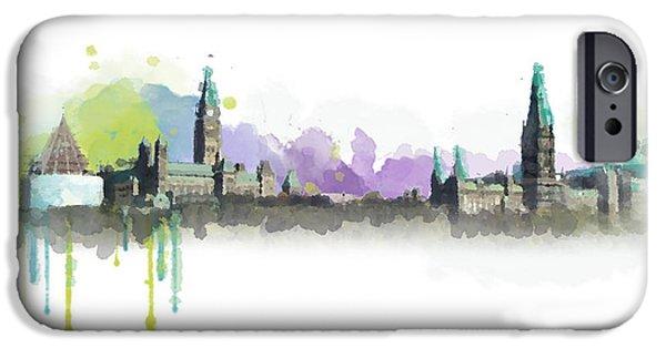 Ottawa iPhone Cases - Ottawa Skyline 18 iPhone Case by Mahnoor Shah