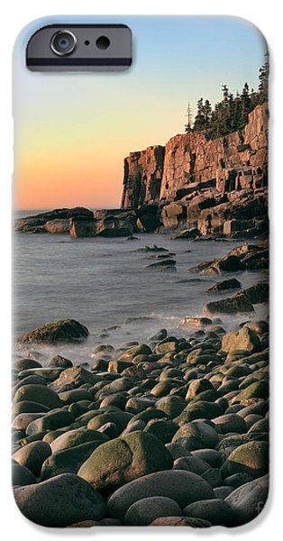 Otter Digital Art iPhone Cases - Otter Cliffs iPhone Case by Jerry Fornarotto