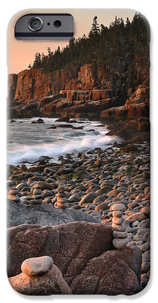 Down East iPhone Cases - Otter Cliffs Morning iPhone Case by Stephen  Vecchiotti