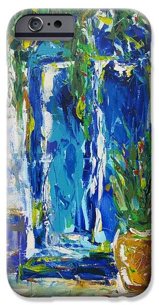 Our Blue Door iPhone Case by Khalid Alzayani