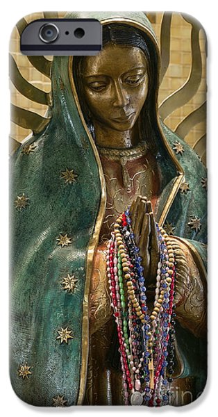 Divine Mercy iPhone Cases - Our Lady of Guadalupe iPhone Case by John Greim