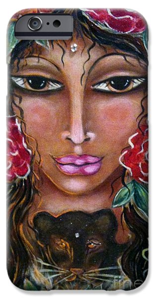 Maya Telford iPhone Cases - Our Lady of the Lion Heart iPhone Case by Maya Telford