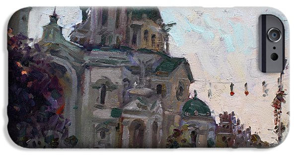Basilica iPhone Cases - Our Lady of Victory Basilica iPhone Case by Ylli Haruni