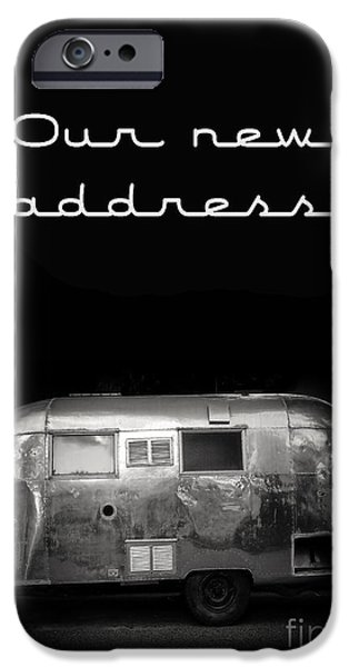 Trailers iPhone Cases - Our New Address Announcement Card iPhone Case by Edward Fielding