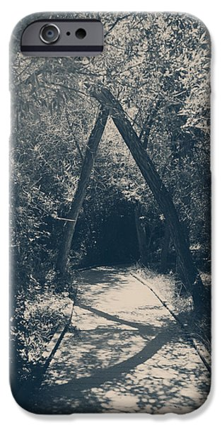 Sanctuary iPhone Cases - Our Paths Will Cross Again iPhone Case by Laurie Search