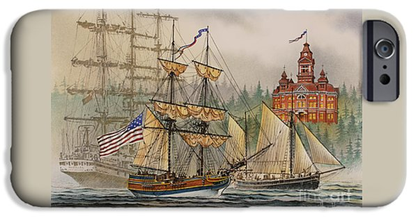 Lady Washington iPhone Cases - Our Seafaring Heritage iPhone Case by James Williamson