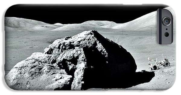 Moonscape iPhone Cases - Out For A Drive iPhone Case by Benjamin Yeager