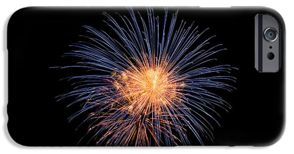 Fireworks iPhone Cases - Out in space iPhone Case by Devinder Sangha