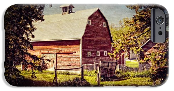 Shed Mixed Media iPhone Cases - Out in the Country iPhone Case by Dorothy Pinder