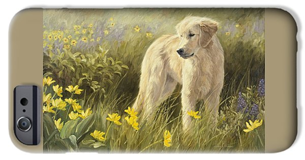 Dogs iPhone Cases - Out In The Field iPhone Case by Lucie Bilodeau