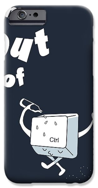 Computers iPhone Cases - Out of Ctrl iPhone Case by Neelanjana  Bandyopadhyay