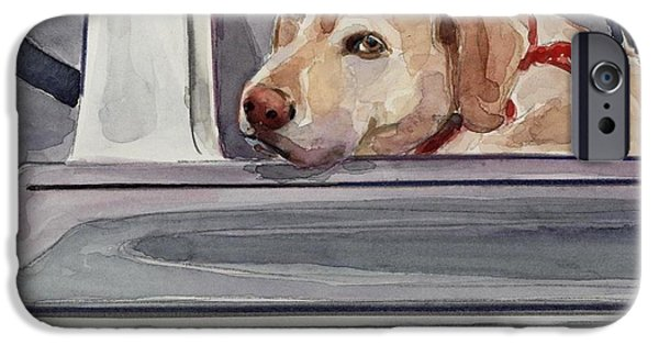 Yellow Labs iPhone Cases - Out of Dodge iPhone Case by Molly Poole