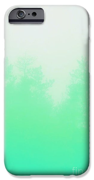 Spectrum iPhone Cases - Out of focus mint iPhone Case by Budi Satria Kwan