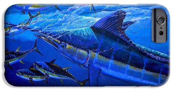 Marine iPhone Cases - Out of the blue iPhone Case by Carey Chen