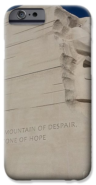 The Kings Speech iPhone Cases - Out Of The Mountain Of Despair iPhone Case by Emmy Marie Vickers