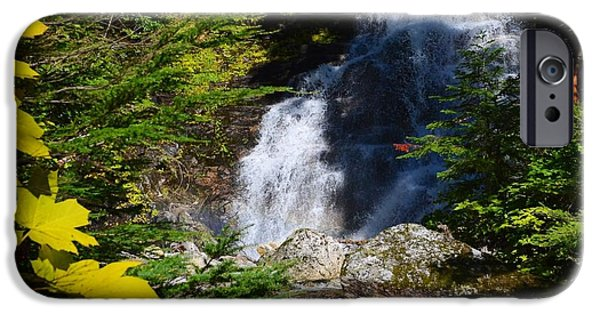 Randy Moss iPhone Cases - Out of the Mt waterfall  iPhone Case by Randy Giesbrecht