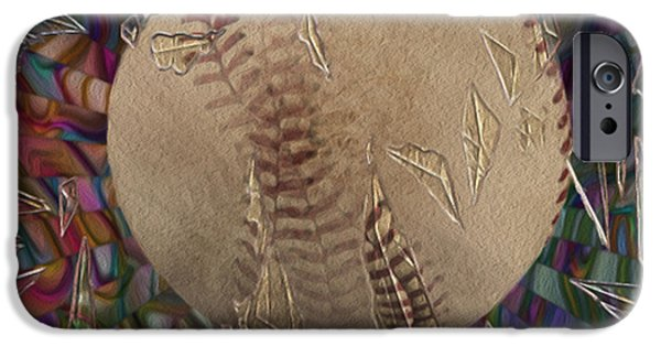 Baseball Glove iPhone Cases - Out Of The Park iPhone Case by Jack Zulli